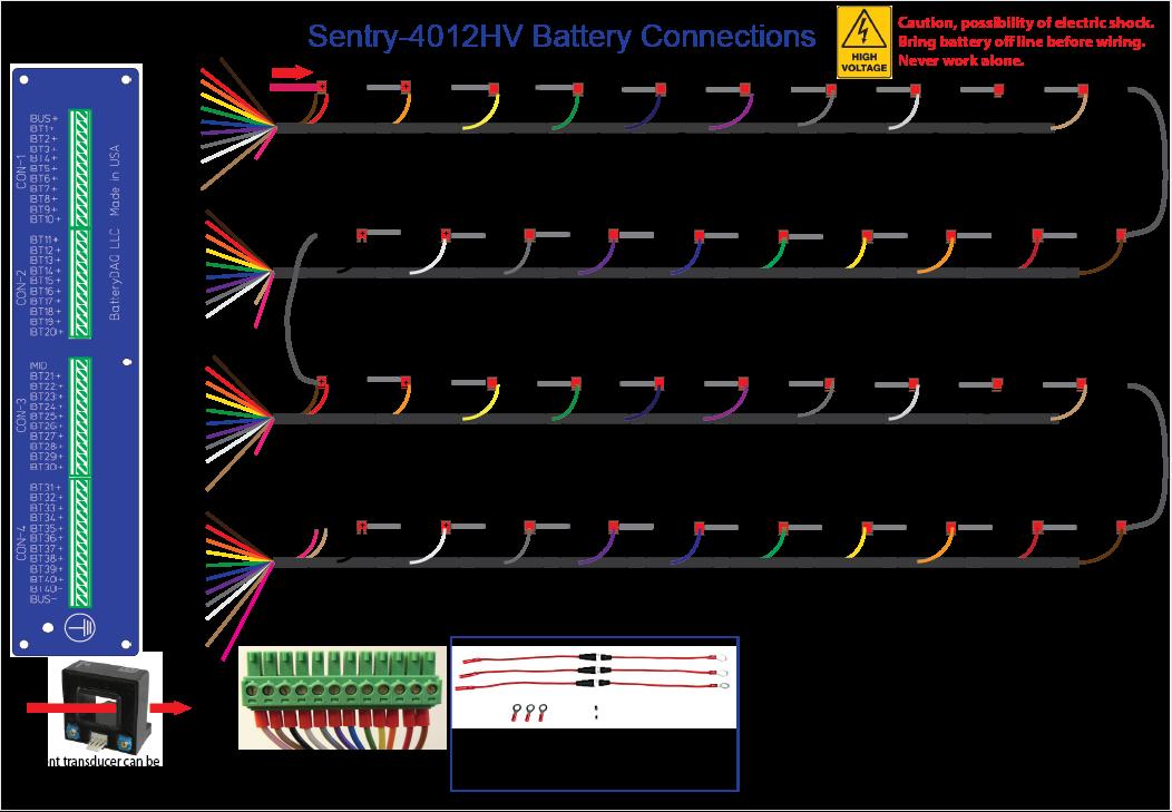 Three Bank Battery Monitoring System : Sentry hv ups battery monitoring system batterydaq